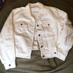 Liz Claiborne ivory jean jacket